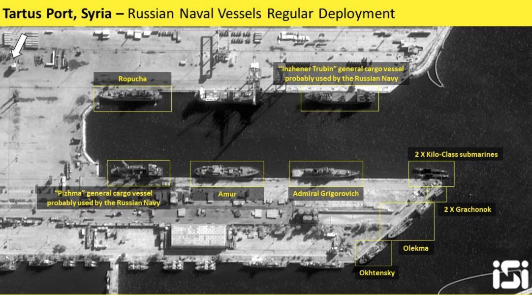 Обычное расположение кораблей в Тартусе / Фото: ISI