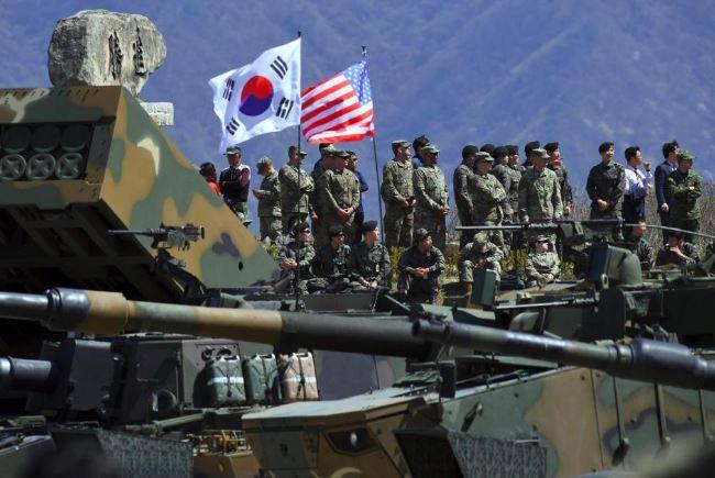 Около 28 500 американских солдат базируются в Южной Корее