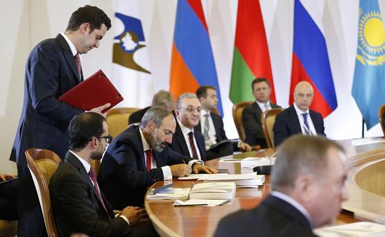 Никол Пашинян на саммите ЕАЭС