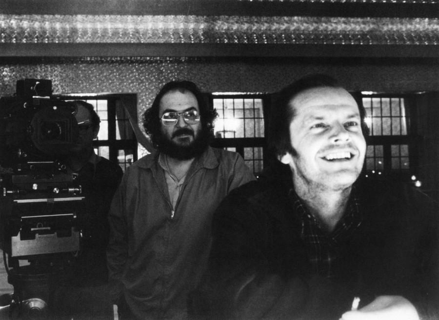 Кадр со съемок фильма «Сияние» - Стэнли Кубрик и Джек Николсон