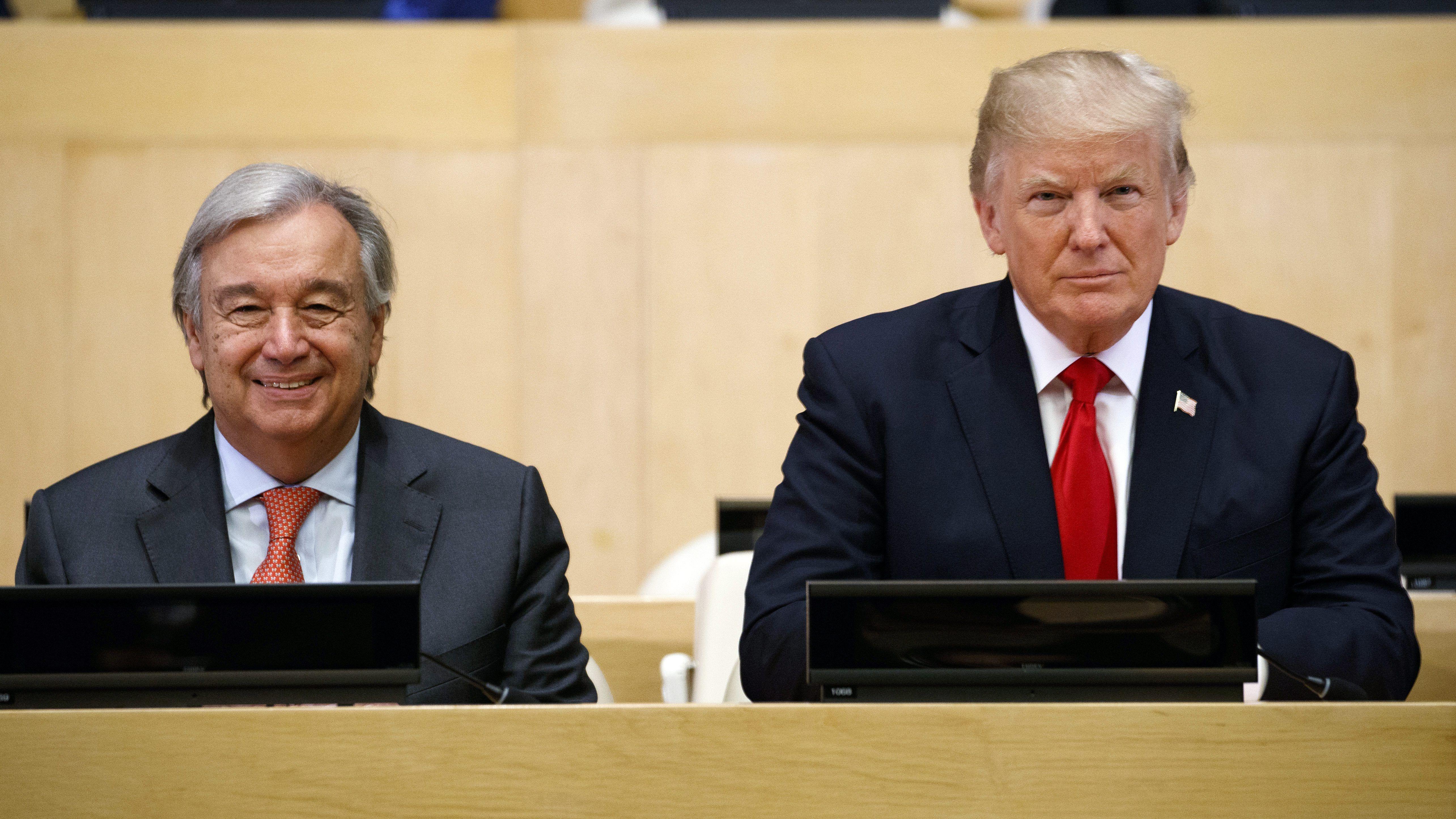 Президент Трамп заметил Генсеку ООН Антонио Гутеррешу, что бюджет ООН увеличился на 140%, а численность персонала – почти вдвое