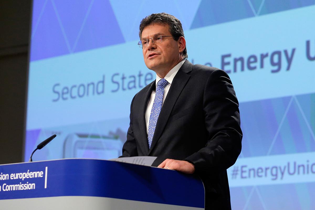 Достичь соглашения Украине и России по транзиту газа помогает  еврокомиссар по энергетике Марош Шефчович