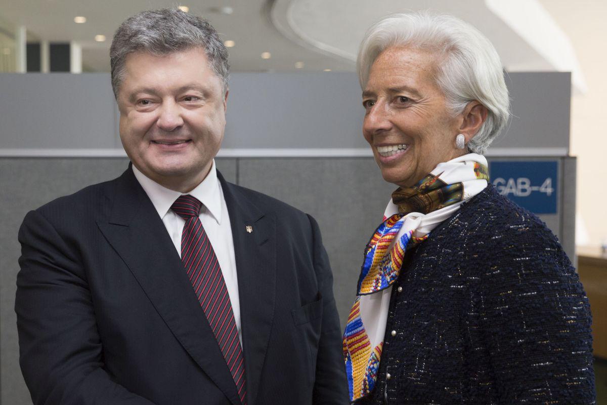 Встреча президента Петр Порошенко с директором-распорядителем Международного валютного фонда Кристин Лагард