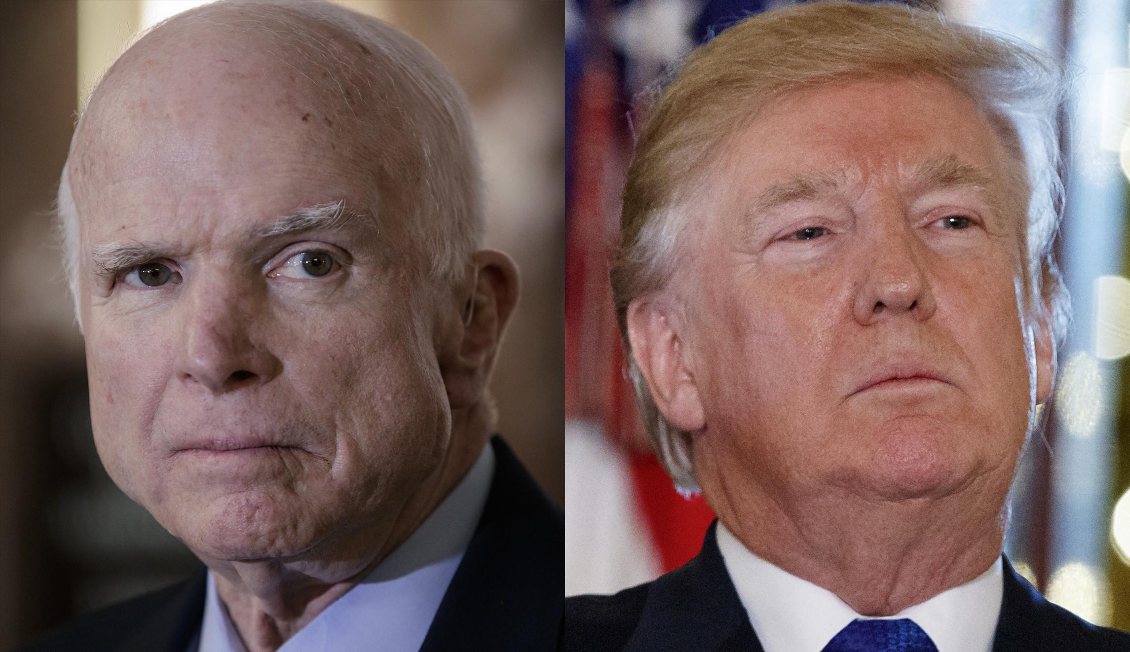 У президента Трампа и сенатора Маккейна одинаковое видение целей и задач Америки во внешней политике, но различное - путей достижения