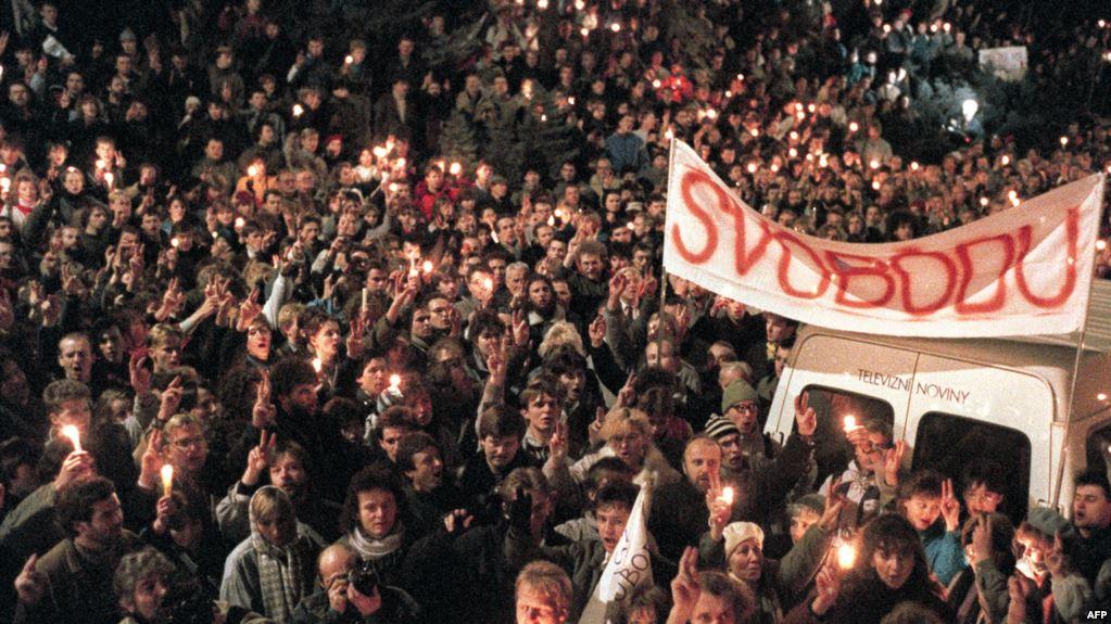 Антикоммунистическая демонстрация в Праге 1989 года