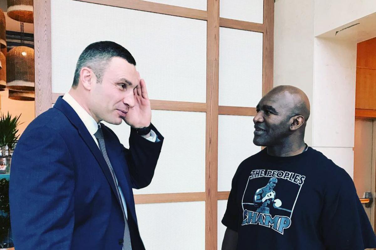 Встреча Виталия Кличко и Эвандера Холифилда
