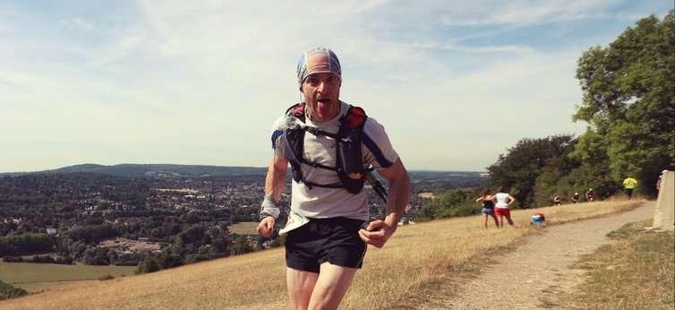 Ник Тиллер на 160-м км сверхмарафона