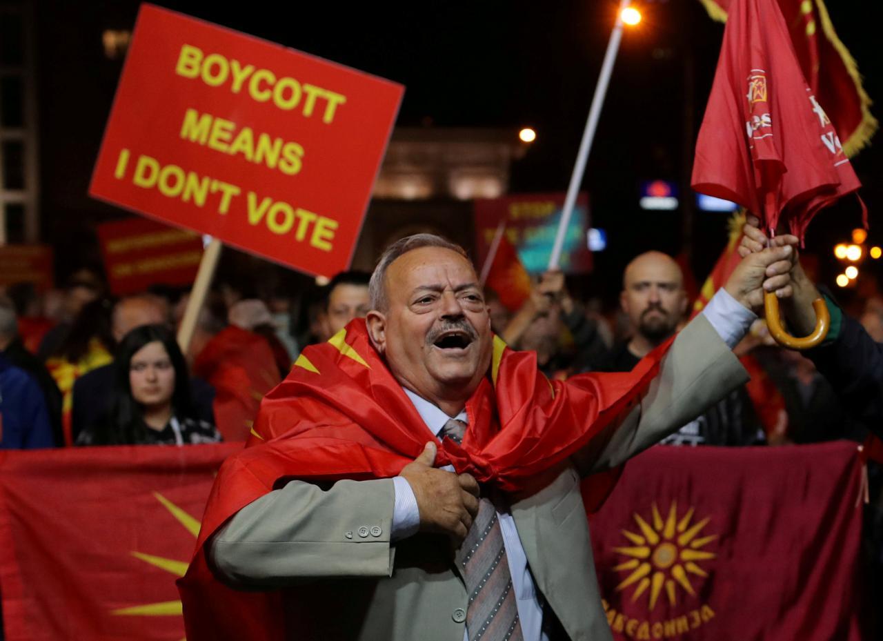 Референдум в Македонии, на котором почти 91,5% согласились переименовать страну ради членства в НАТО и ЕС, сложно считать легитимным из-за низкой явки (36,91%)