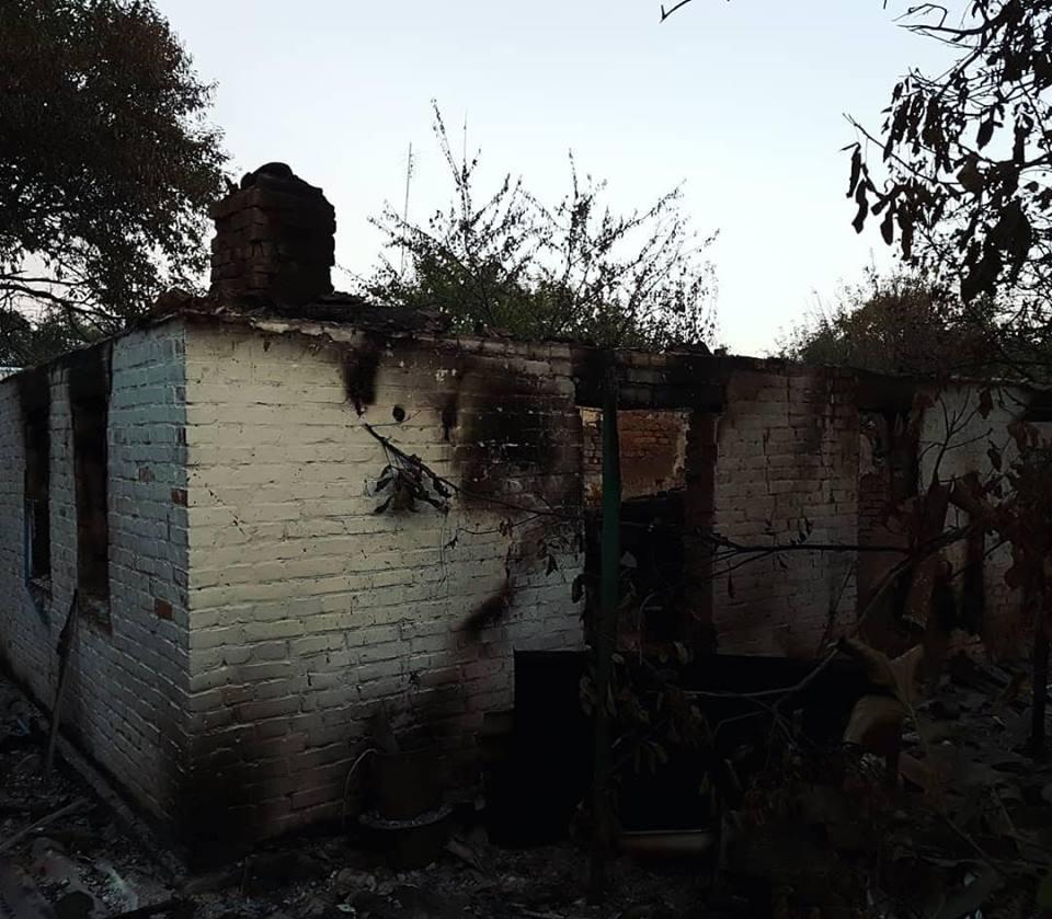 с. Августовка близ 6-го ракетно-артиллерийского арсенала после взрывов на складе боеприпасов