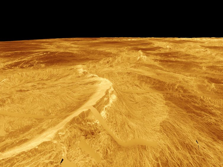 """Карта поверхности Венеры, полученная в ходе миссии """"Магеллан"""""""