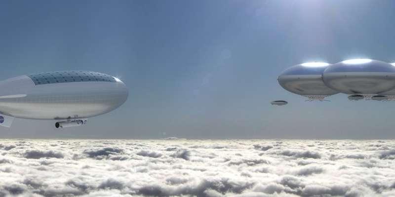 """Верхние слои венерианской атмосферы - подходящая среда для исследований. В них можно """"плавать"""" на дирижаблях"""