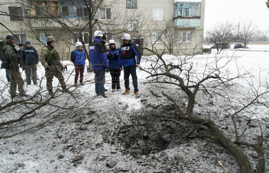 СММ ОБСЕ в Авдеевке после обстрелов /фото ОБСЕ/