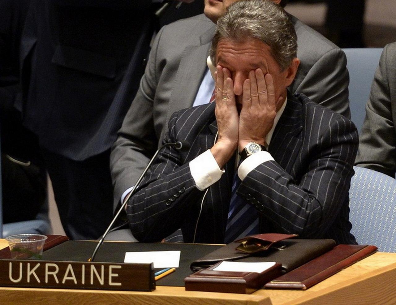 Резолюция Совбеза ООН 2015 г. по Украине не включает вопрос аннексии Крыма (на фото экс-постпред Украины при ООН Юрий Сергеев)