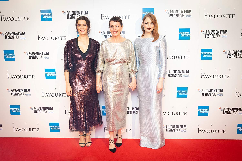 "Рэйчел Вайс, Оливия Колман и Эмма Стоун на премьере ""Фаворитки"""