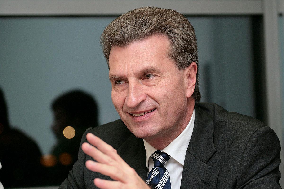Еврокомиссар по бюджету Гюнтер Эттингер отвергает бюджеты южных стран - членов ЕС за то, что в них нарушены принципы политики жесткой экономии