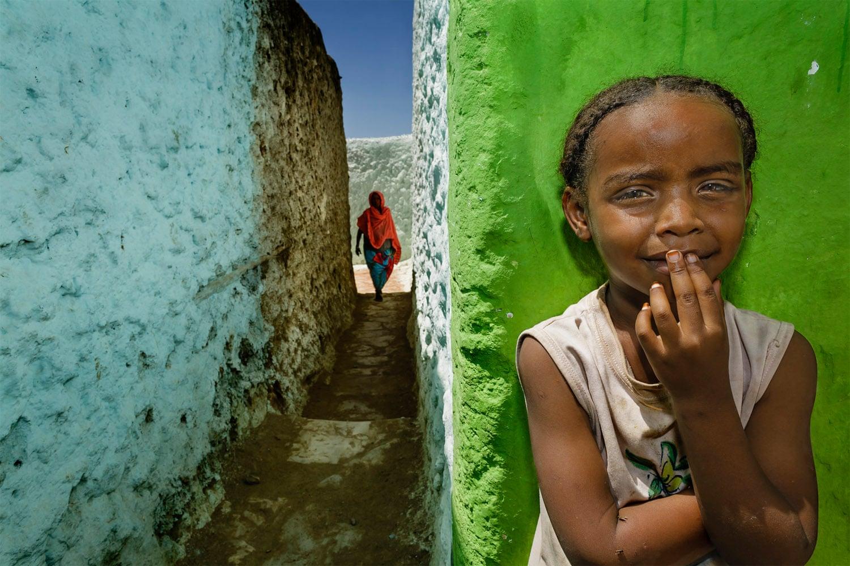 Этот портрет фотограф сделал, гуляя по историческому городу Харэр в Эфиопии.