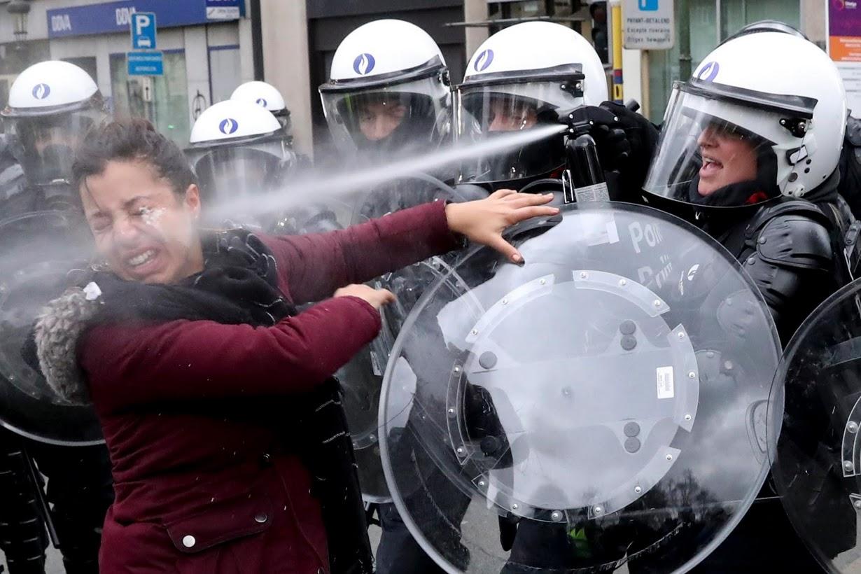 Протесты в Брюсселе /Reuters/