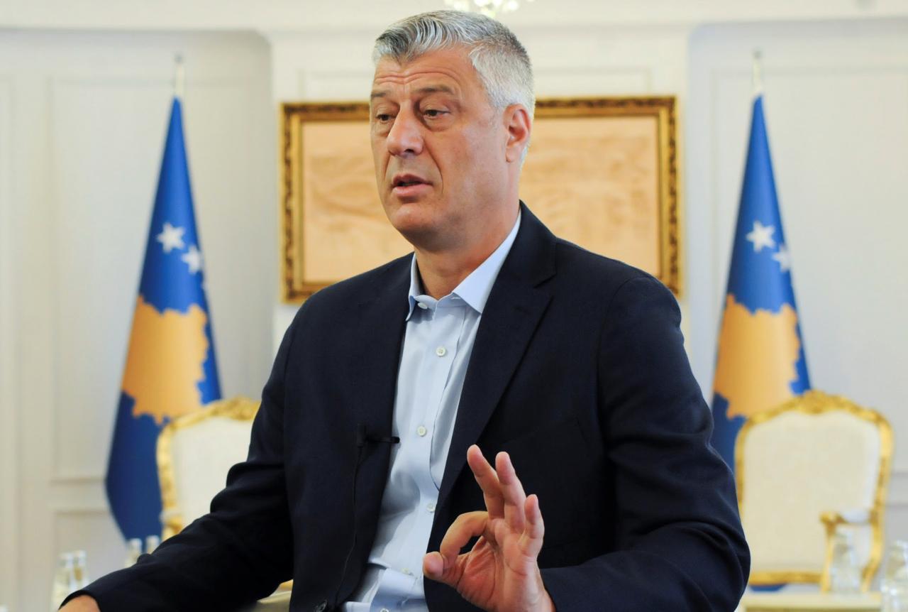 Президент Косово Хашим Тачи