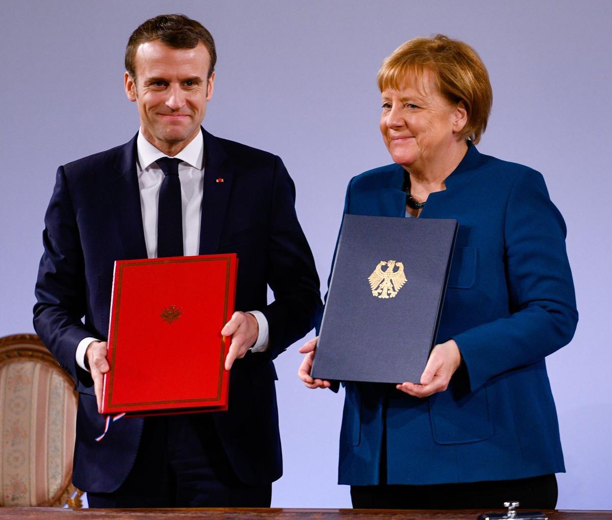 Меркель и Макрон подписали новый договор об углубленной интеграции своих стран