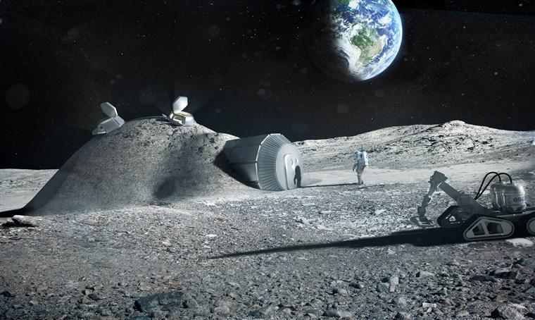 Концепт лунной базы архитектурного бюро Foster + Partners