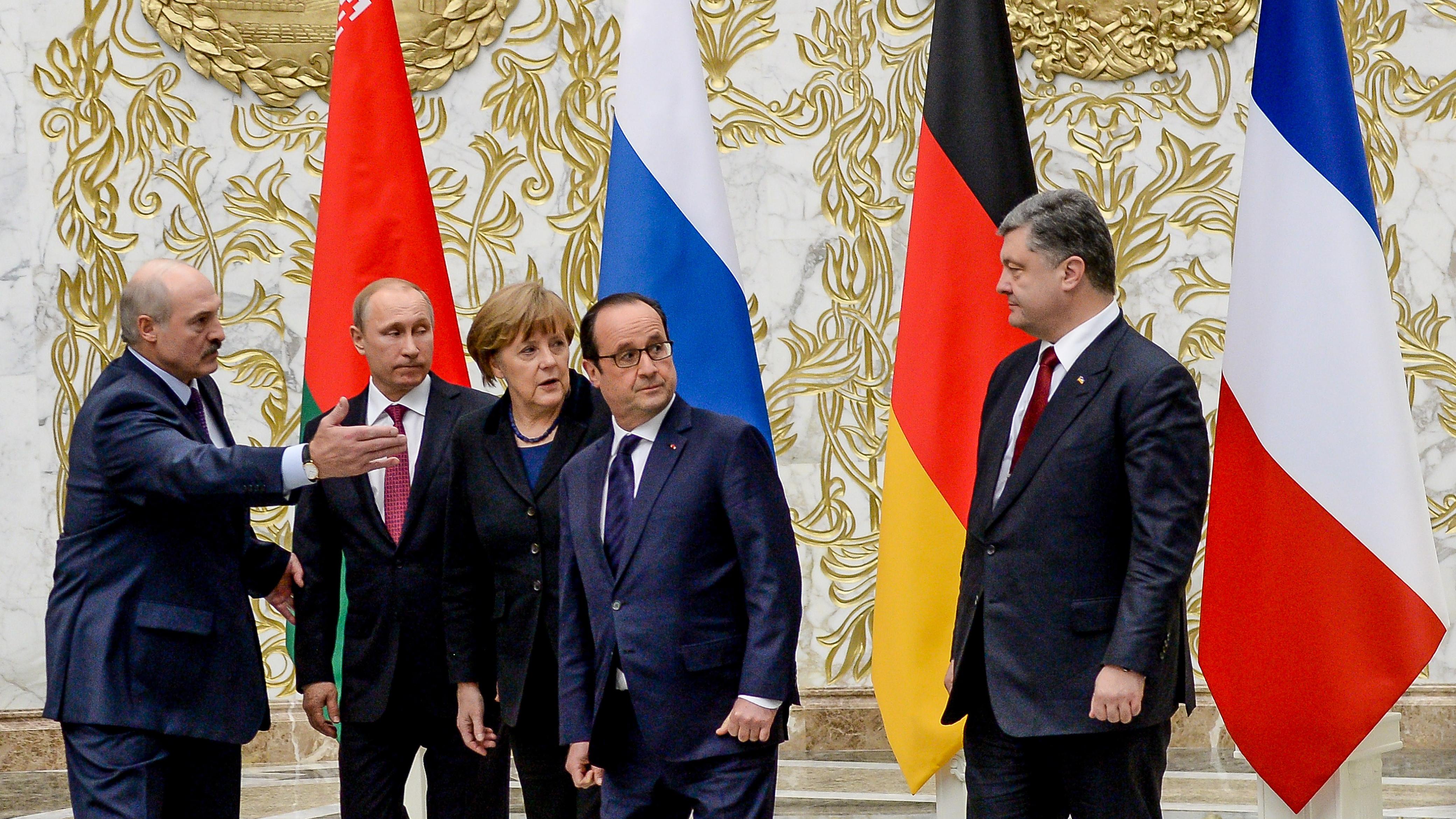 Подписание Минских соглашений 11-12 февраля 2015 г.