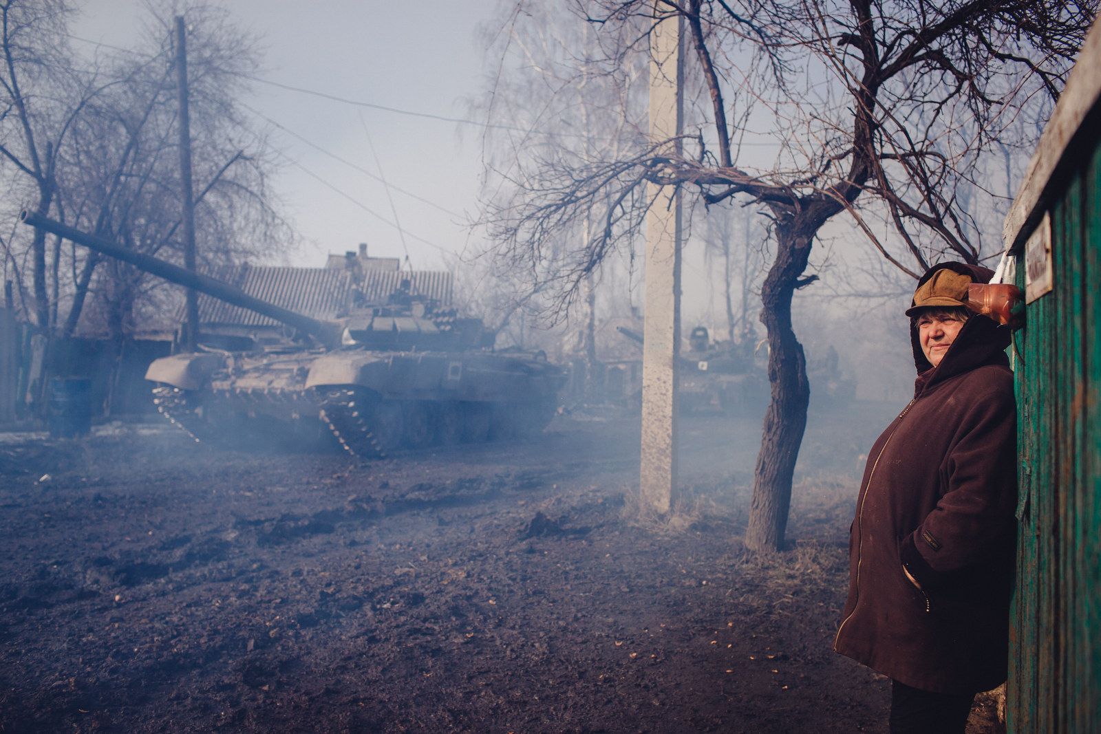 Бои в пригороде Дебальцево, зима 2015 г.