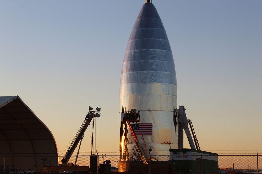 Тестовый модуль космического корабля SpaceX Starship