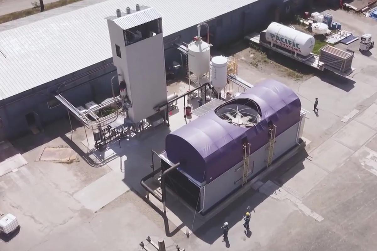 Экспериментальное оборудование для прямого захвата воздуха / Carbon Engineering