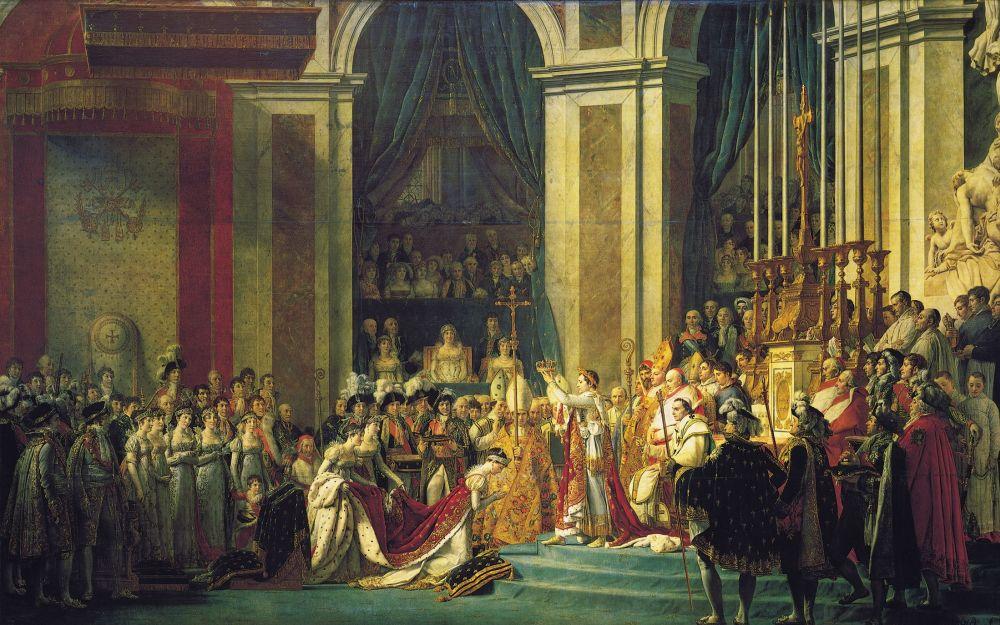 Коронация Наполеона в соборе Нотр-Дам, Жак-Луи Давид, 1807 год
