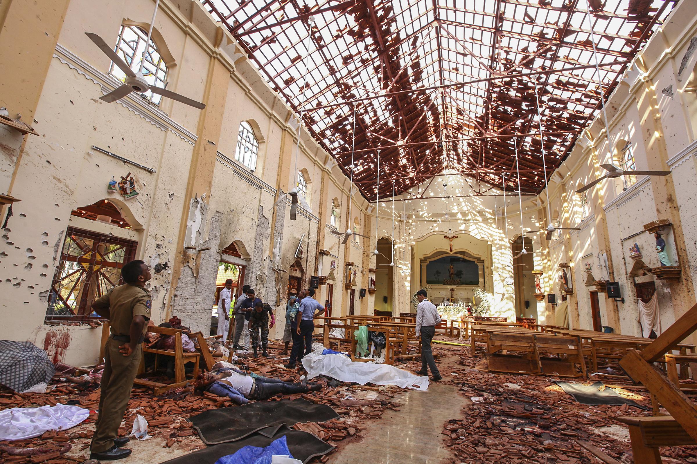 Церковь Святого Себастьяна в Негомбо, место взрыва / The Conversation / AP