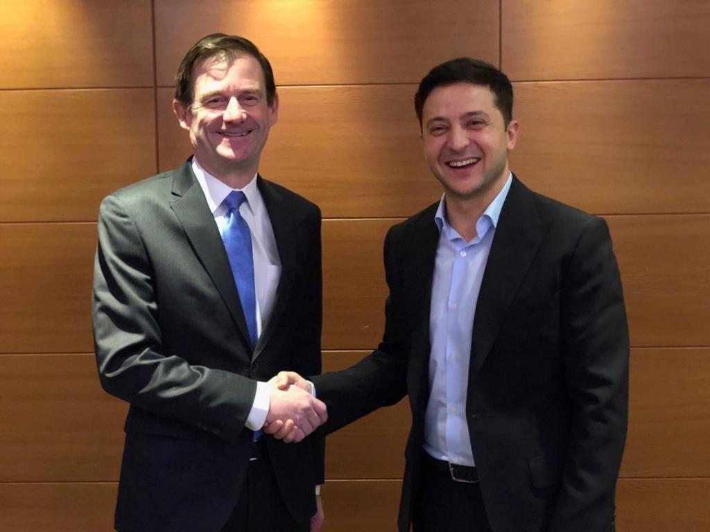 Зеленский с заместителем государственного секретаря США по политическим вопросам Дэвидом Гейлом