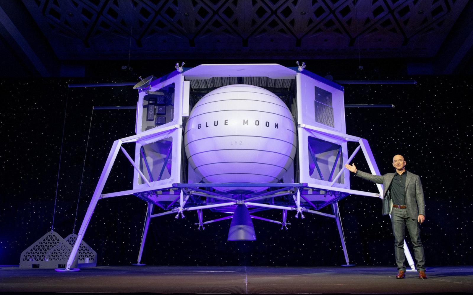 Лунный посадочный модуль компании Blue Origin протестируют в 2019 году