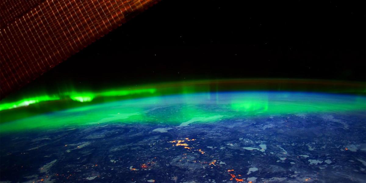 Северное сияние из Международной космической станции / NASA