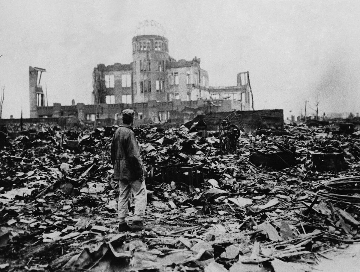 Хиросима, разрушенная атомной бомбардировкой в 1945 году