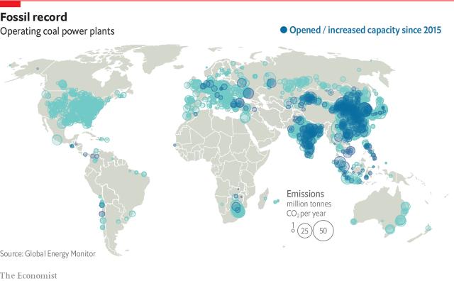 Работающие на угле тепловые электростанции и их выбросы