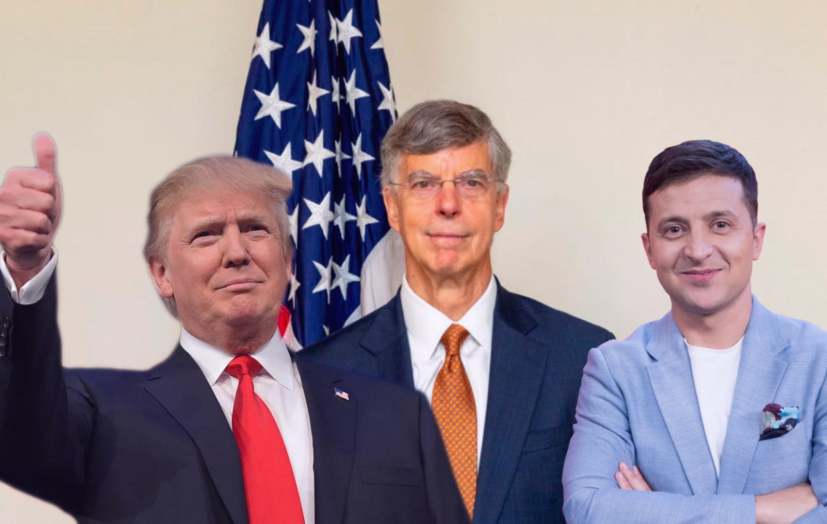 Трамп, временный представитель США в Украине Уильям Тейлор, Зеленский