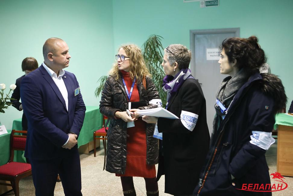 Миссия ОБСЕ на избирательном участке №699 в Минске